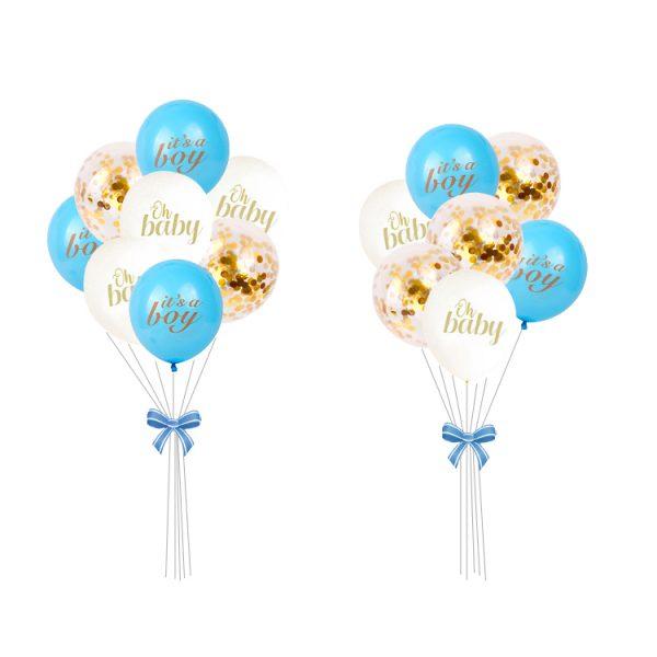 Ballonnen set Blauw Babyshower