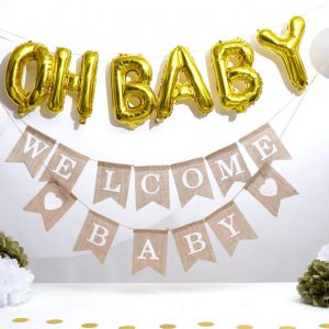 Decoratie Babyshower Goud