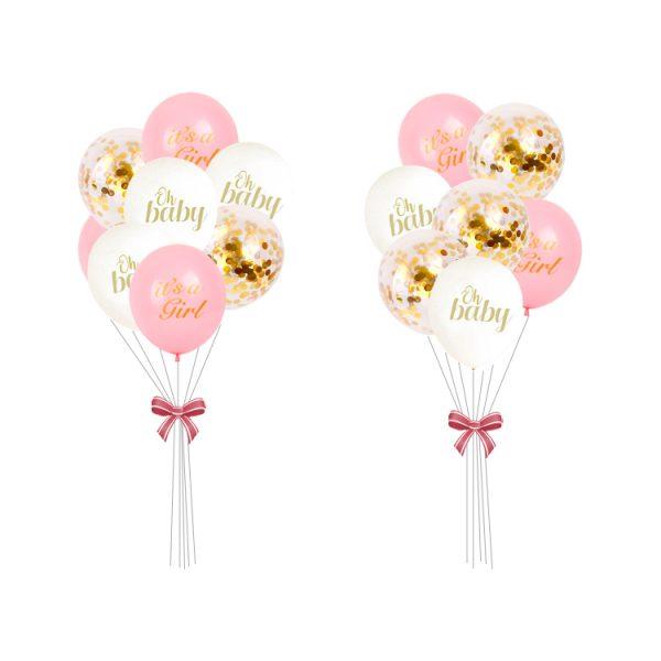 Geboorte Babyshower roze Ballonnen