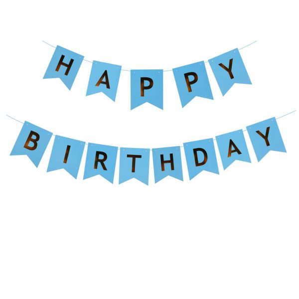 Happy Birthday Slinger Blauw