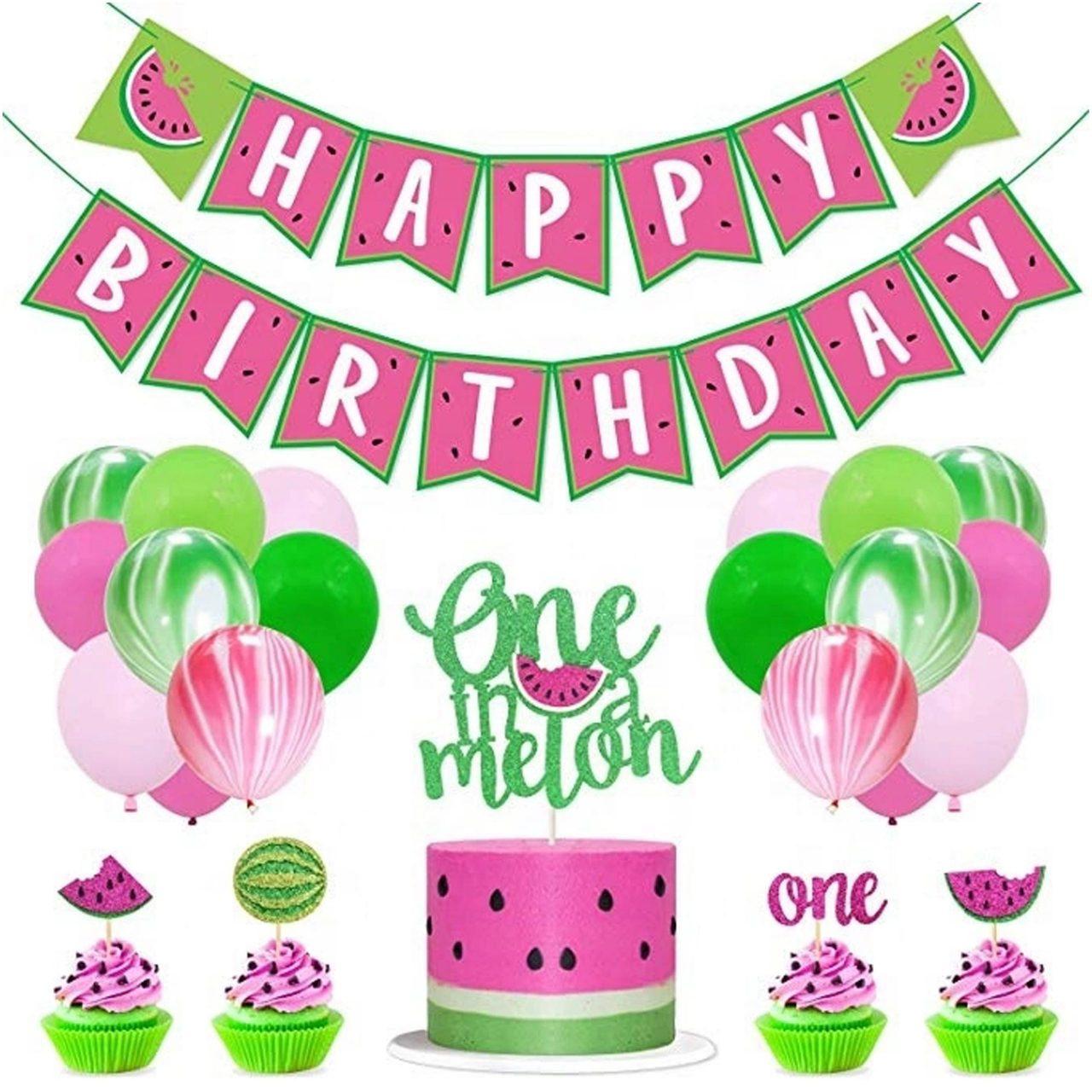One In A Melon Eerste Verjaardag Versiering Decoratie 1e Verjaardag Babydouche