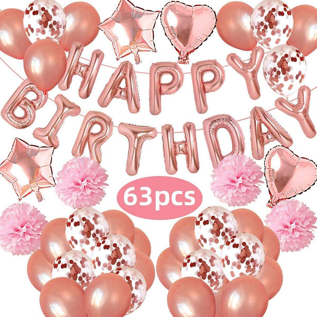 Rose Goud Versiering Verjaardag Decoratie Feest Pakket Xl Babydouche