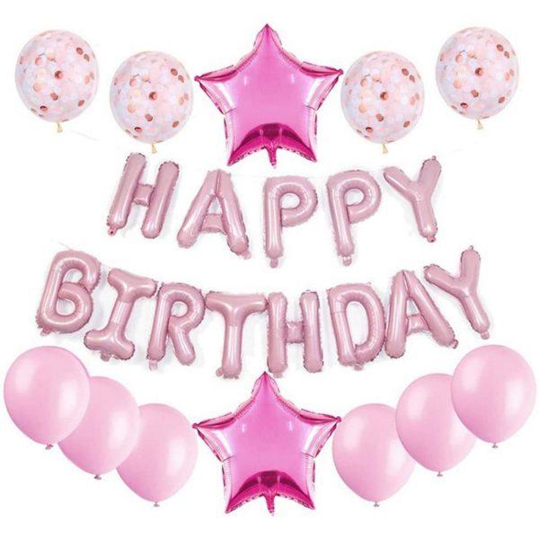 Verjaardag Versiering Roze