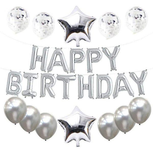 Verjaardag Versiering Zilver