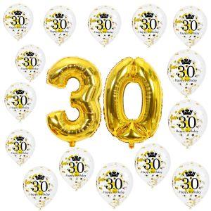 30 jaar ballonnen versiering