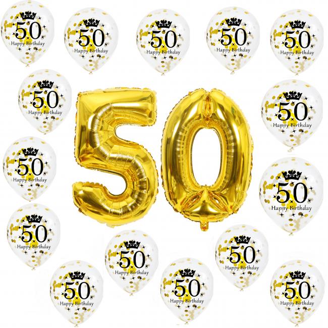 50 jaar ballonnen versiering