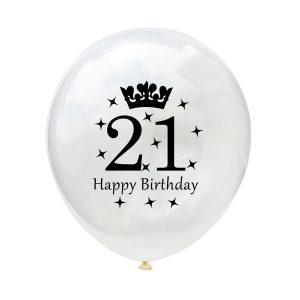 21 Happy birthday ballon