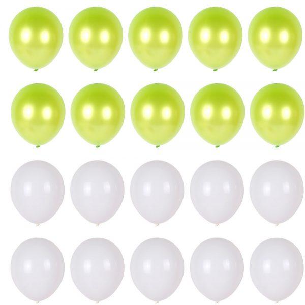 Ballonnen set groen wit