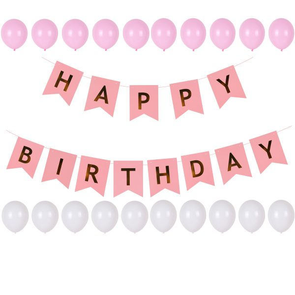 Verjaardag versieriing roze