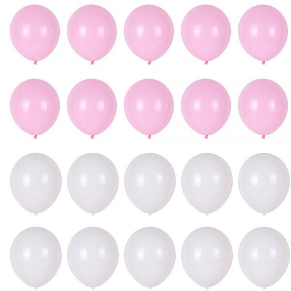 Ballonnen set roze wit