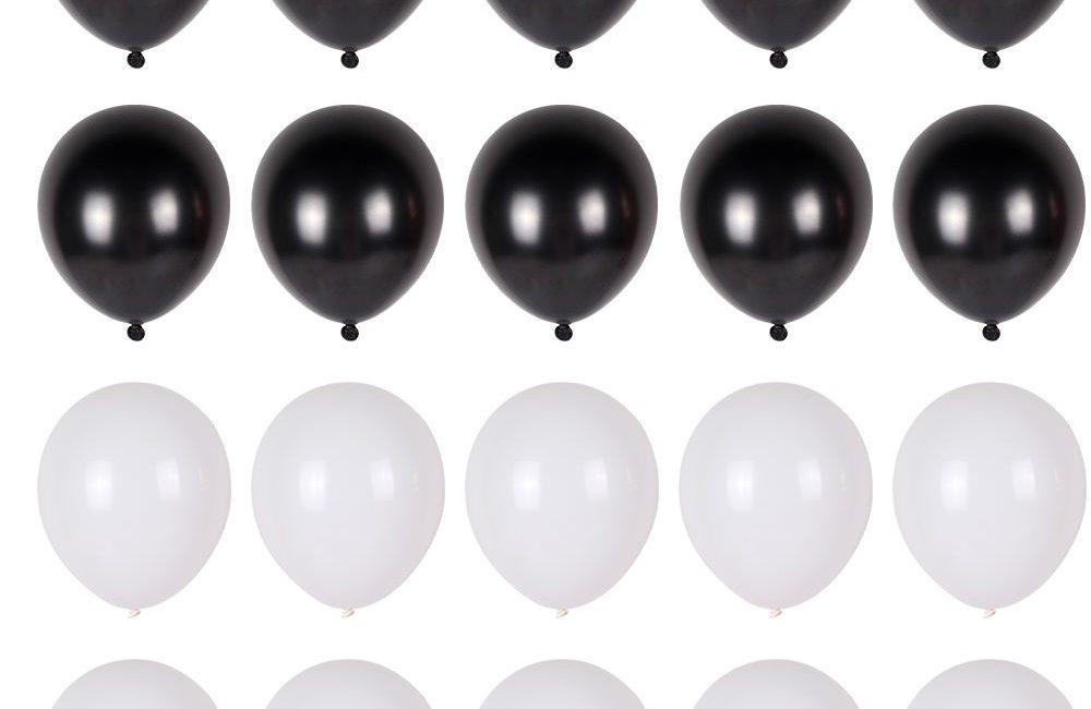 Ballonnen set zwart wit
