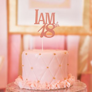taart topper 18 jaar