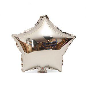 zilveren ster ballon
