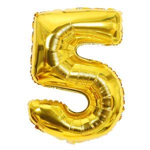 Cijfer 5 ballon