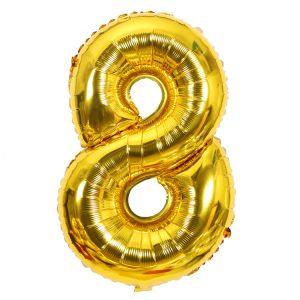 Cijfer 8 ballon