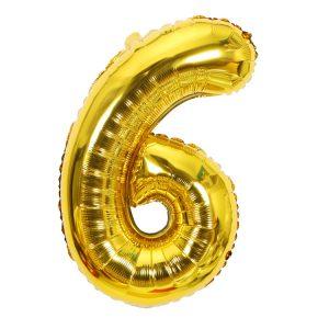 Cijfer 6 ballon
