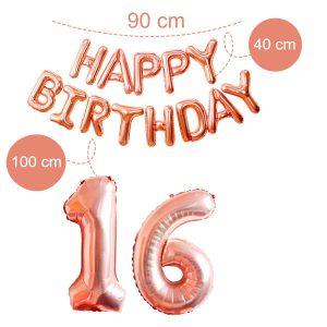 16 jaar cijfer ballon