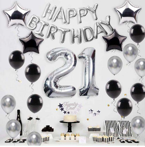21 jaar zilver verjaardag versiering