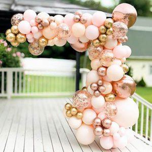 Ballonnenboog rose goud